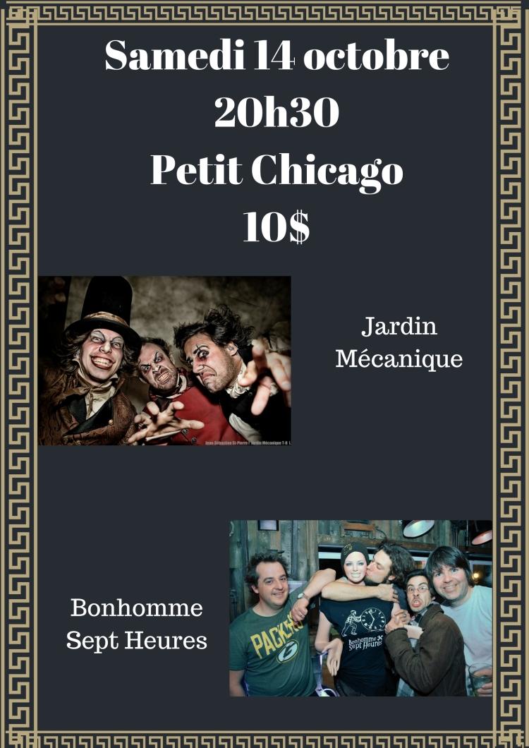 Samedi 14 octobre20h30Petit Chicago10$