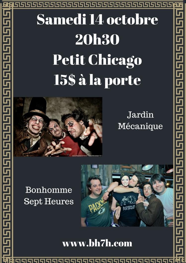 Samedi 14 octobre20h30Petit Chicago10$(1)